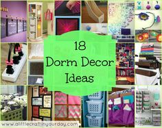 18 Dorm Decor ideas for going off the college, Must see! Not there quite yet but when I do hopefully I will remember these!!!!
