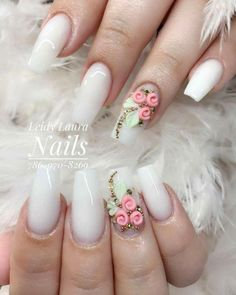 Leidy Nails, You can collect images you discovered organize them, add your own ideas to your collections and share with other people. Bling Nails, 3d Nails, Nail Manicure, Love Nails, Pastel Nails, Best Acrylic Nails, Acrylic Nail Designs, Nail Art Designs, Bridal Nails