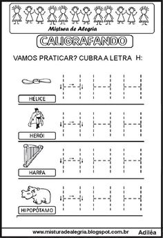 Caligrafando Alphabet Worksheets, Homeschool, Bible, Activities, Maria Valentina, Nara, Safari, Kids, Preschool Literacy Activities