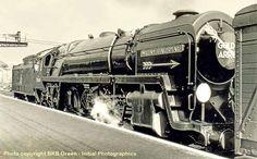 David Heys steam diesel photo collection - 91 - BR BRITANNIA CLASS 7 - 2 Train Car, Train Travel, Live Steam Locomotive, Southern Trains, Steam Trains Uk, Steam Tractor, Steam Railway, Railroad Photography, British Rail