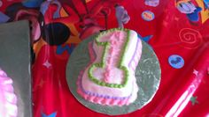 Smash cake one. Cake is bright color on inside.