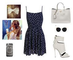 """Sans titre #82"" by kushigupta on Polyvore featuring mode, Prada, Giuseppe Zanotti et Una-Home"