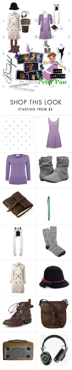 """""""Jane Darling  Peter Pan: Return to Neverland"""" by sasukeuchiha2498 ❤ liked on Polyvore featuring Rare London, Report, Rustico, J.Crew, Burberry, Genie by Eugenia Kim, Dorothy Perkins, DUBARRY, Master & Dynamic and Pixie"""