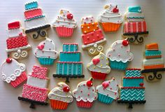Birthday cake and cupcake Cookies - HayleyCakes And Cookies