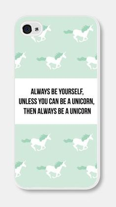 Mint Green Unicorn iPhone Case Always Be Yourself Unless You Unicorn