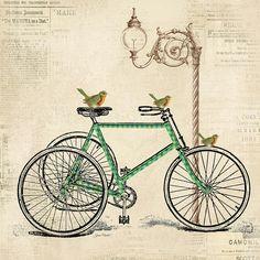 Vintage Bike-c Digital Art  - Vintage Bike-c Fine Art Print