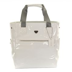 ca709bdc871d Armani Baby White Patent Baby Changing Bag - DesignerChildrenswear.com