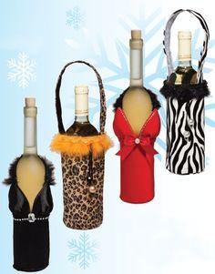 SUKI GIRLIE DRESS WINE BOTTLE COVER, HEN, PARTY, CHRISTMAS GIFT BAG NEW | eBay