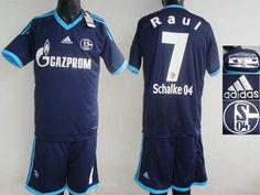 Schalke 04 #7 Raul Dark Blue Away Soccer Club Jersey @Emillia Kelly