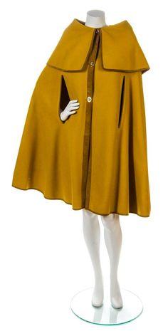 A Bonnie Cashin Ochre Wool Cape,