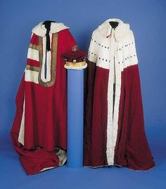 A Barons Parliament Robe, Coronation Robe and Coronet.
