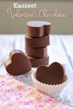 Yesterfood : Easiest Valentine's Chocolates