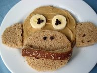We Love Food & Drinks http://tastyfoodpics.blogspot.com Instead of peanut butter I could use apricot or grape jam. Monkey