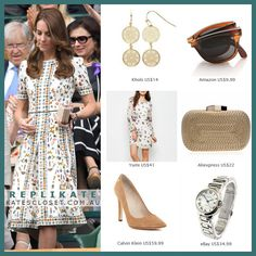 Steal Kate Middleton's winning Wimbledon style! Click to shop this repliKate outfit