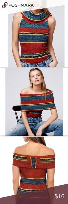 Free People Ribbed Cowl neck top, SMALL Free People ribbed cowl neck top Size Small Multi functional! Wear it different ways! Excellent used condition  Smoke and pet free home ❤️ Free People Tops Tank Tops