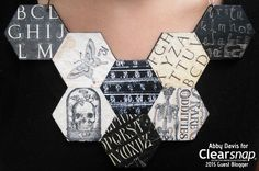 Hexagon Paper Necklace by Abby Davis #clearsnap #graphic45