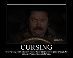 Ron Swanson- Taxes is a curse word. Hand clapping hand clapping hand clapping.