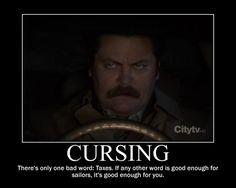 Ron Swanson - Cursing