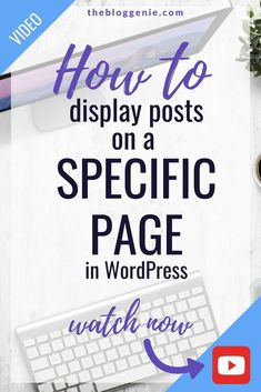 How to: Displaying Posts To A Specific Page In Wordpress 2018 Make Money Blogging, How To Make Money, Wordpress Plugins, Wordpress Help, Branding, Security Tips, Blogging For Beginners, Content Marketing, Digital Marketing