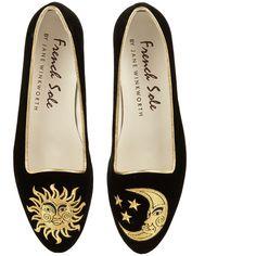 Black Velvet Ballet Flats (€190) ❤ liked on Polyvore featuring shoes, flats, footwear, black, velvet flats, ballet shoes, black flats, flat shoes and metallic flats