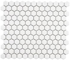 "Hexagon 1"" White Matte Porcelain Mosaic Floor and Wall Tile0 Reviews   Item #BRIDGE-WW-HEX-MATTERegular Price:$13.95Starting at:$8.95"