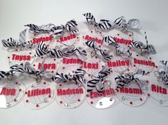 Volleyball bag tags for a team