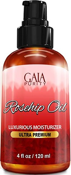 Rosehip Oil, Large 4oz - All Natural, Best Moisturizer for Face, Hair & Body to Help Heal Dry Skin, Diminish Scars, Discoloration, Acne, Wrinkles, Stretch Marks, Eczema, Skin Tags and Brittle Nails. Cold Pressed, Unrefined, Virgin Rose Hip Seed Oil with Anti-Aging Properties