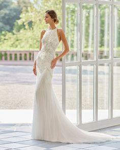 33 Vintage Inspired Wedding Dresses ❤ vintage inspired wedding dresses sheath halter neckline beaded jeweled rosa clara #weddingforward #wedding #bride #weddingoutfit #bridaloutfit #weddinggown