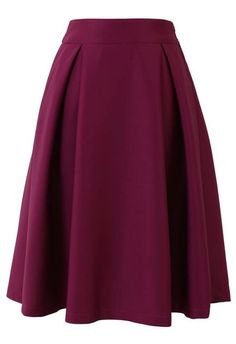 Chicwish スカート Full A line Midi Skirt in Violet Sサイズ 上品 無地 Modest Fashion, Unique Fashion, Womens Fashion, Apostolic Fashion, Modest Clothing, Modest Outfits, Apostolic Style, Emo Fashion, Skirt Outfits