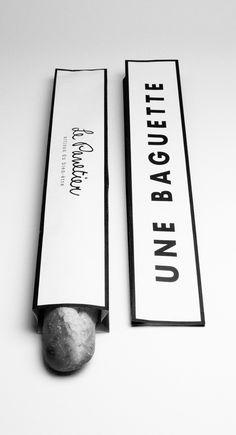 Boulangerie Le Panetier packaging by Andréanne Teasdale Bread Packaging, Bakery Packaging, Cool Packaging, Product Packaging, Packaging Ideas, Cosmetic Packaging, Food Design, Web Design, Label Design