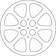 Movie Reel Template More Open - Same instructions as other except more holes.