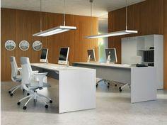 Bureau opérationnel rectangulaire QUARANTA5 | Bureau rectangulaire - FANTONI