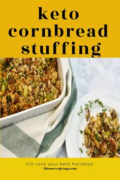 This keto cornbread stuffing recipe is a delicious, low carb stuffing (dressing) and it will allow you to enjoy stuffing while doing keto. That's right it's a gluten-free stuffing side dish that doesn't sacrifice the flavor. keto stuffing| low carb stuffing| low carb cornbread dressing | keto cornbread dressing #ketostuffing #lowcarbstuffing
