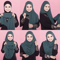 Instant Shawl 2 Loops Abaya Pattern, Instant Hijab, Hijab Style Tutorial, Head Scarf Styles, Kamiz, Islamic Clothing, Beautiful Hijab, Mode Hijab, Hijab Fashion