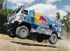 ...and they race trucks in the Paris-Dakar Rally...I wanna drive one, too...