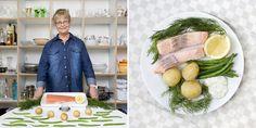 Suecia, Inkokt Lax â (Salmón escalfado y verduras frías)