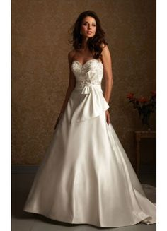 Modern Court Train Strapless Sleeveless Satin Ball Gown Wedding Dresses - Wedding Dresses