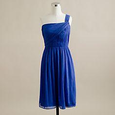 Lucienne one-shoulder dress in silk chiffon J Crew