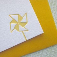 #Pinwheel #letterpressed #stationery