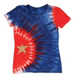 Star-Studded Summer Tie-Dye T-Shirt by Tulip®