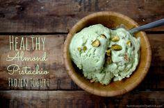 Healthy Almond Pistachio Frozen Yogurt (no ice cream machine needed!) | Nutritionist in the Kitch