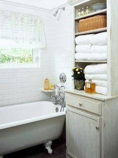 Bathroom hutch, nice storage.
