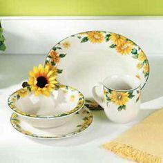 Sunflower Dinnerware | Home \u003e Kitchen \u003e Dinnerware \u003e SUNFLOWER DINNERWARE SET & sunflower ceramic dinnerware set | 7pcs Sunflower Melamine Tableware ...