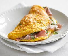 Omelette mit Kräutern und Schinken