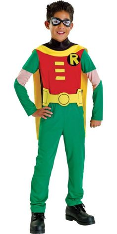 Boys Teen Titans Robin Costume - Party City  sc 1 st  Pinterest & DIY Teen Titans Go #Halloween Costumes: How I Made It u2013 And How We ...