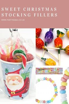 Add sweet stocking fillers to your child's Christmas stocking this year. Here at Partyrama we have sweet filled cups, candy canes, marshmallow bags, lollipops and so much more. Christmas Rock, Christmas Sweets, Kids Christmas, Christmas Decorations, Christmas Stocking Fillers, Christmas Stockings, Strawberry Jelly, Retro Sweets