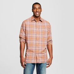 Men's Long Sleeve Button Down Shirt - Mossimo Supply Co. R