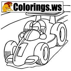 Formula 1 Toy Car Coloring Page