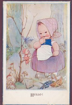MABEL LUCIE ATTWELL HULLO FAIRIES BOO BOOS POSTED 1944 PUB: VALENTINE