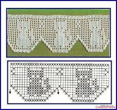 Crochet cat - cat crochet - Source by Crochet Edging Patterns, Filet Crochet Charts, Crochet Motifs, Crochet Borders, Crochet Diagram, Thread Crochet, Crochet Doilies, Crochet Stitches, Stitch Patterns